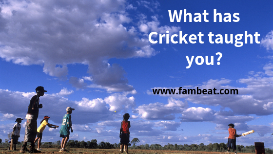 what cricket taught you